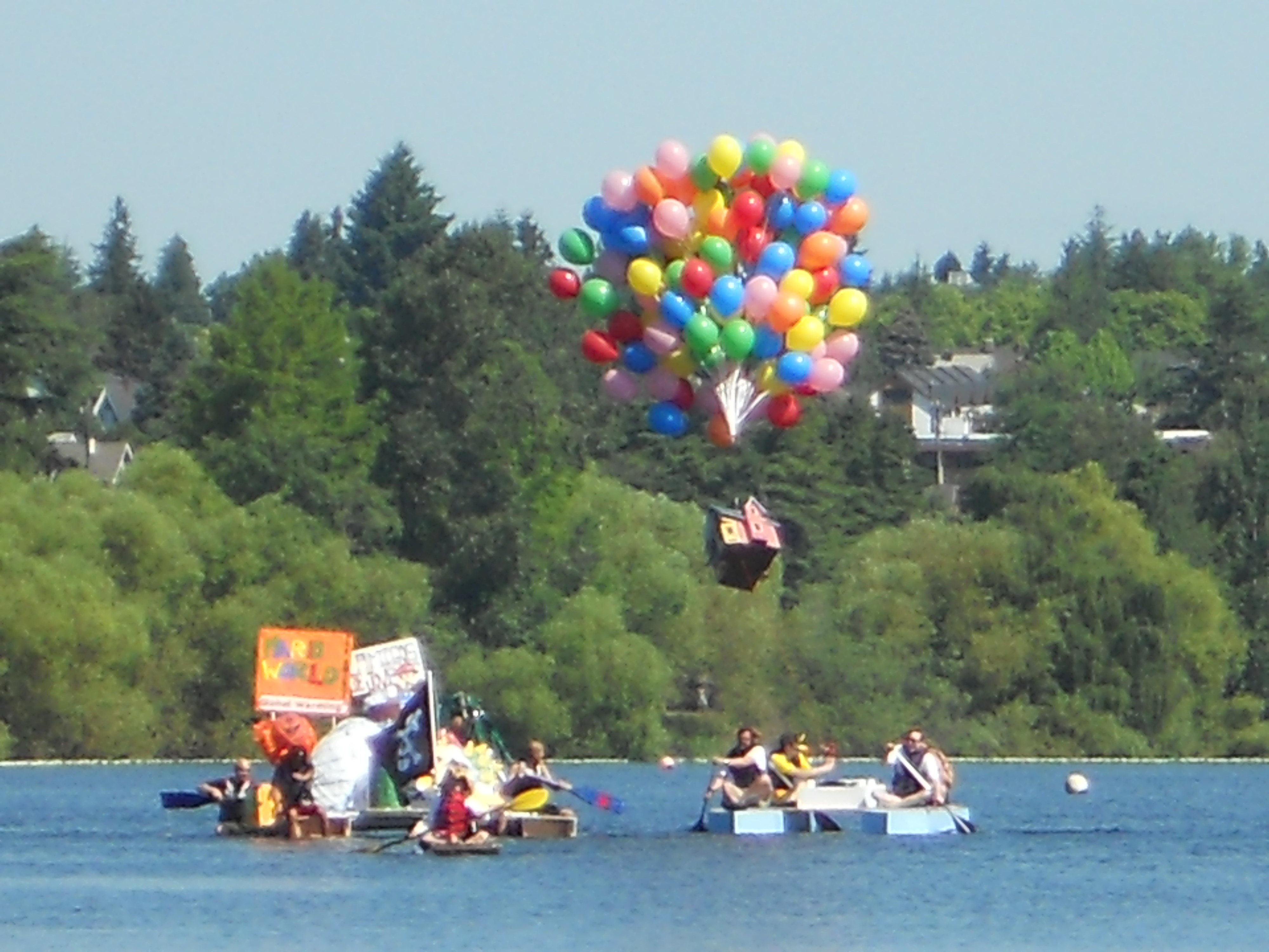 Self-Org Groups in the Seattle Seafair Milk Carton Derby