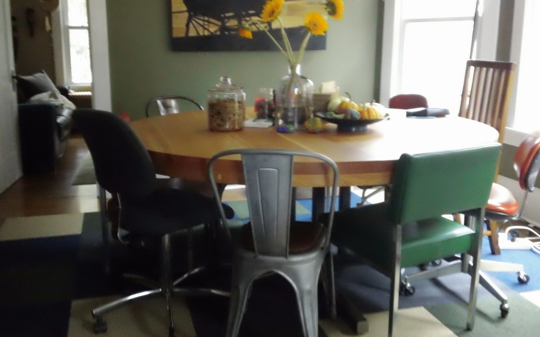 10-person table at Collective Self Coworking